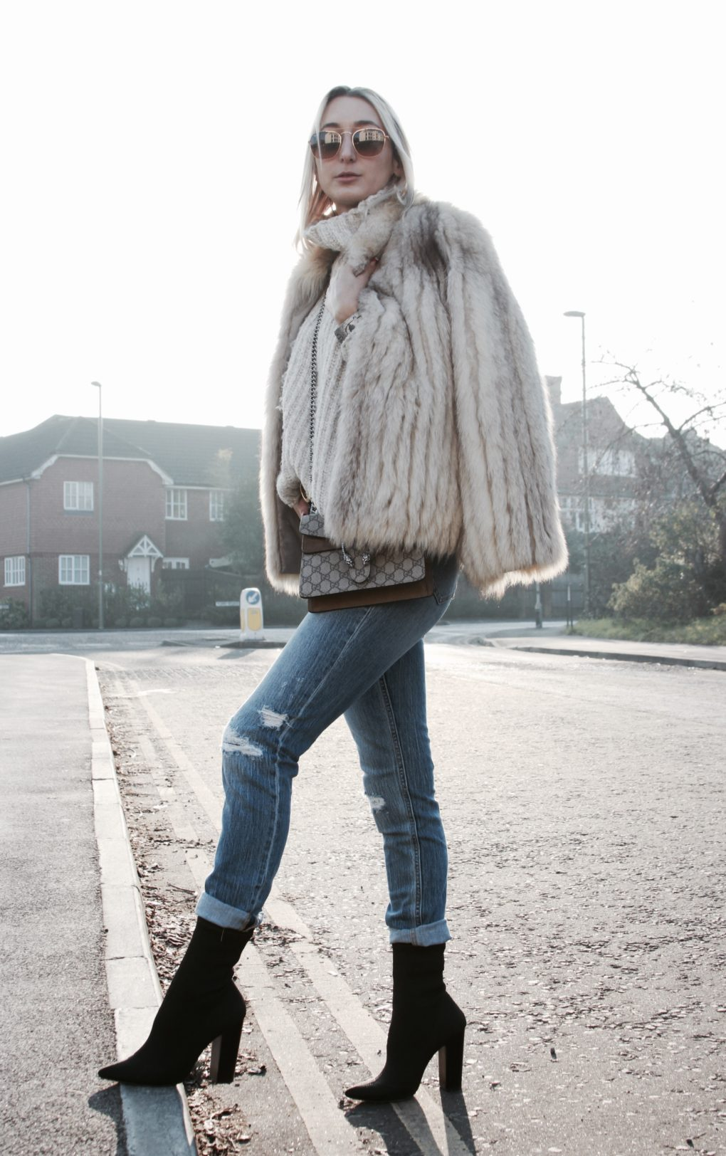 winter jeans and fur