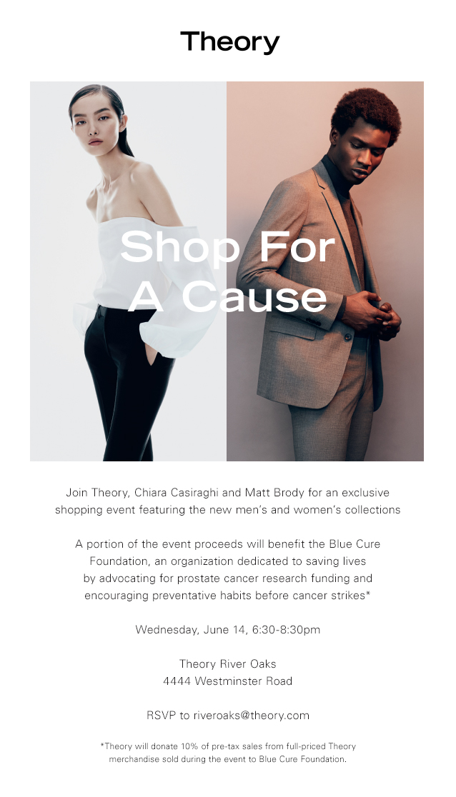 Shop for a Cause at Theory Benefiting Blue Cure