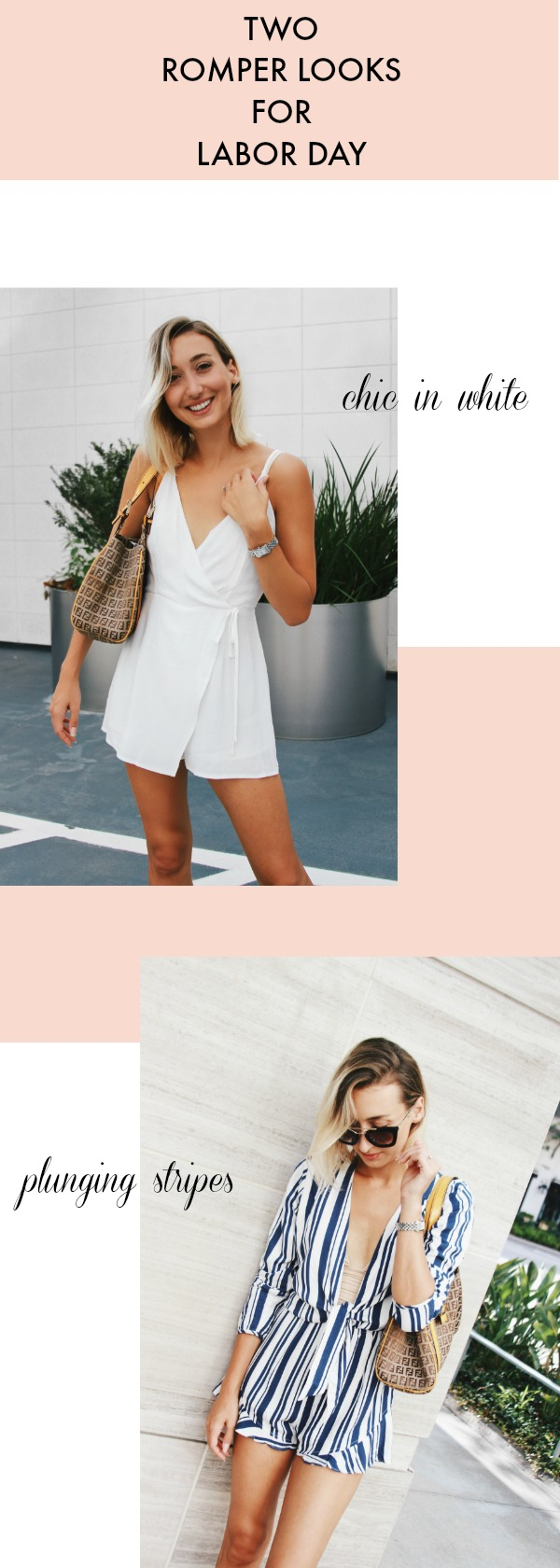 Two Labor Day Rompers