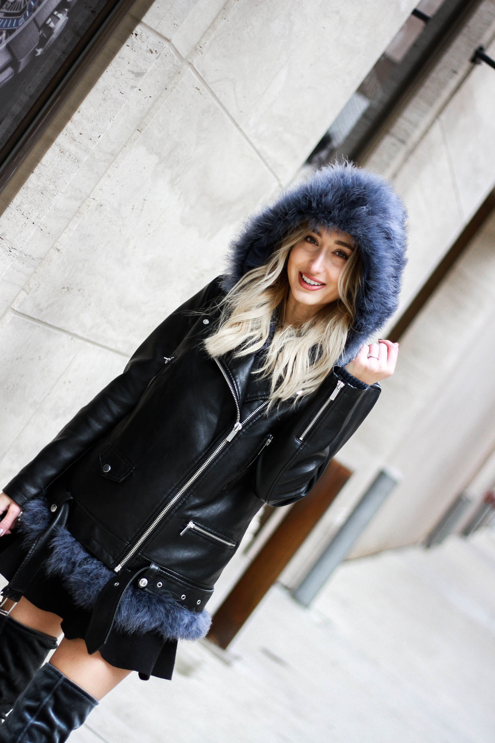 Mini Skirt Winter Outfit