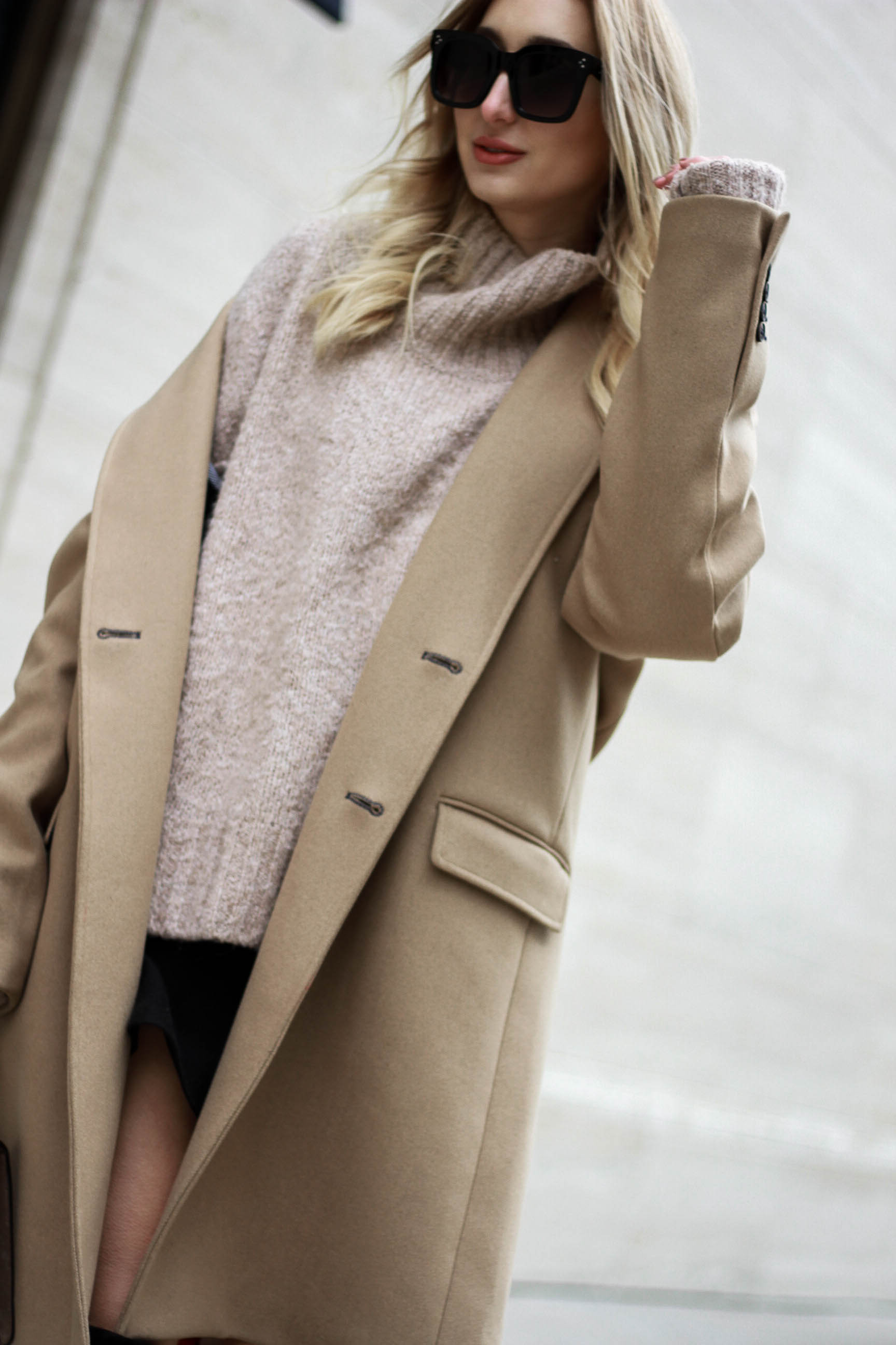 Camel Coat Look: Borrowed from the Boys