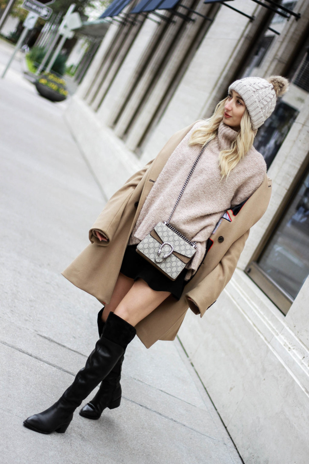 Oversized Camel Coat Look: Borrowed from the Boys