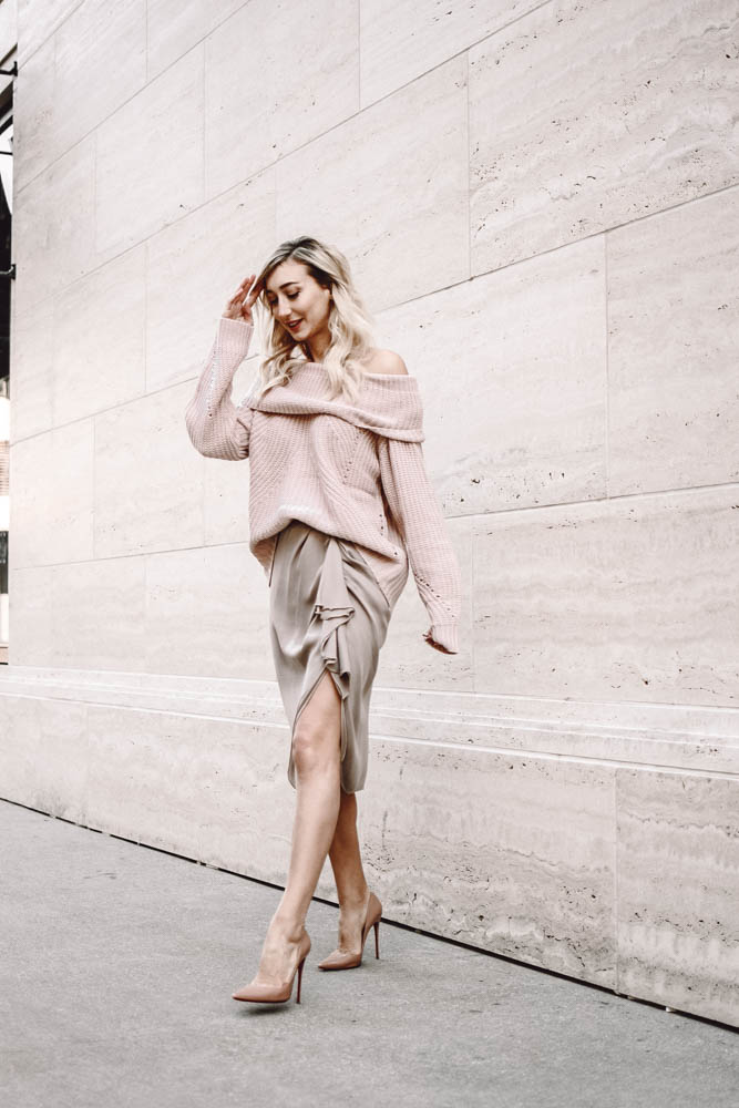 Flirty, Comfy, Sexy: Off the Shoulder Valentine's Day Look